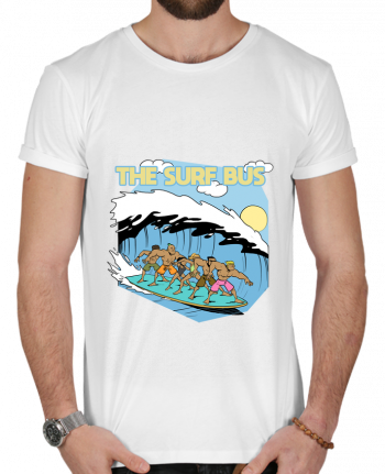T-shirt  Homme 180g The Surf Bus par Tomi Ax - tomiax.fr