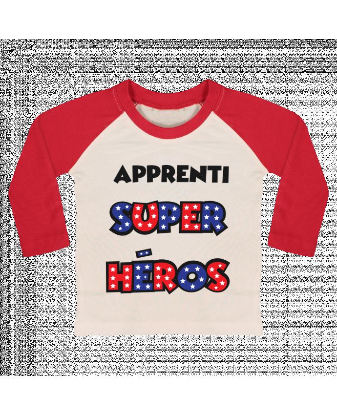 T-shirt Bébé Baseball Manches Longues Apprenti super héros par tunetoo