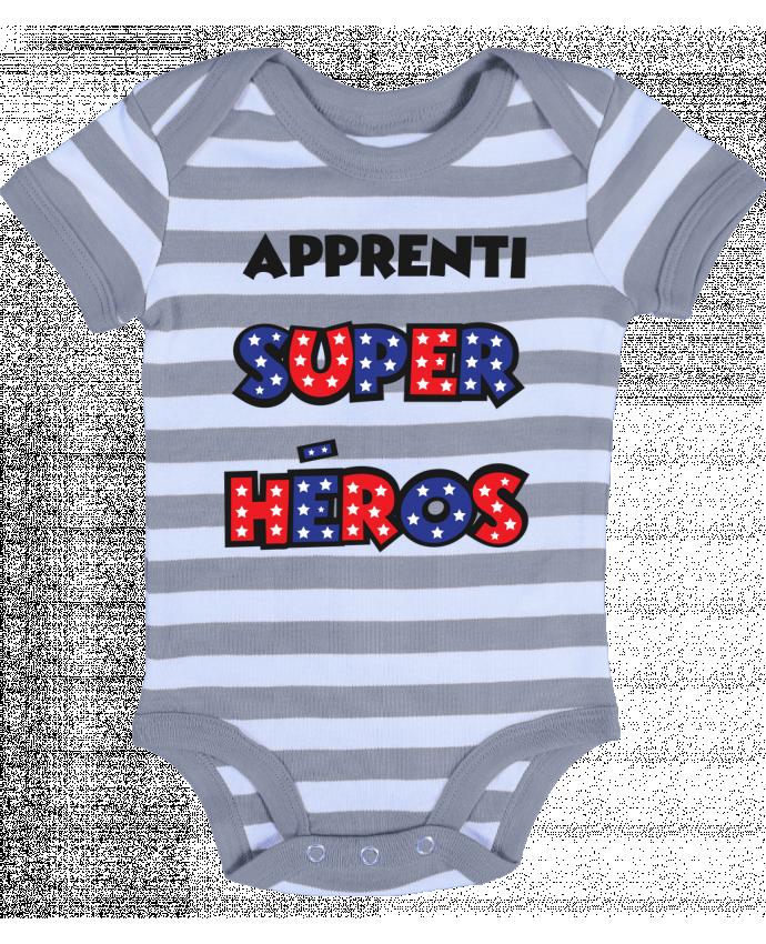 Body Bébé à Rayures Apprenti super héros - tunetoo