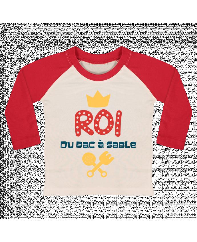 T-shirt Bébé Baseball Manches Longues Roi du bac à sable par tunetoo