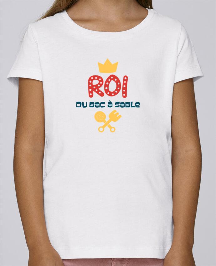 T-shirt Fille Mini Stella Draws Roi du bac à sable par tunetoo