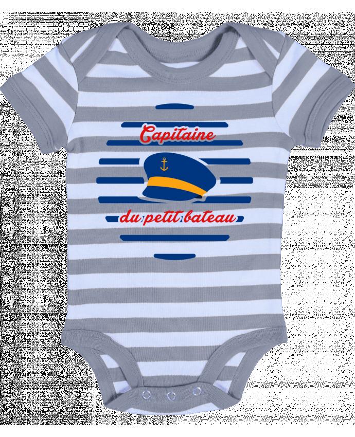 Body Bébé à Rayures Capitaine du petit bateau - tunetoo