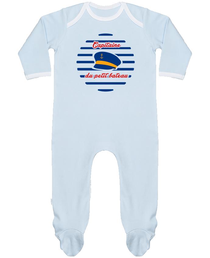 Pyjama Bébé Manches Longues Contrasté Capitaine du petit bateau par tunetoo