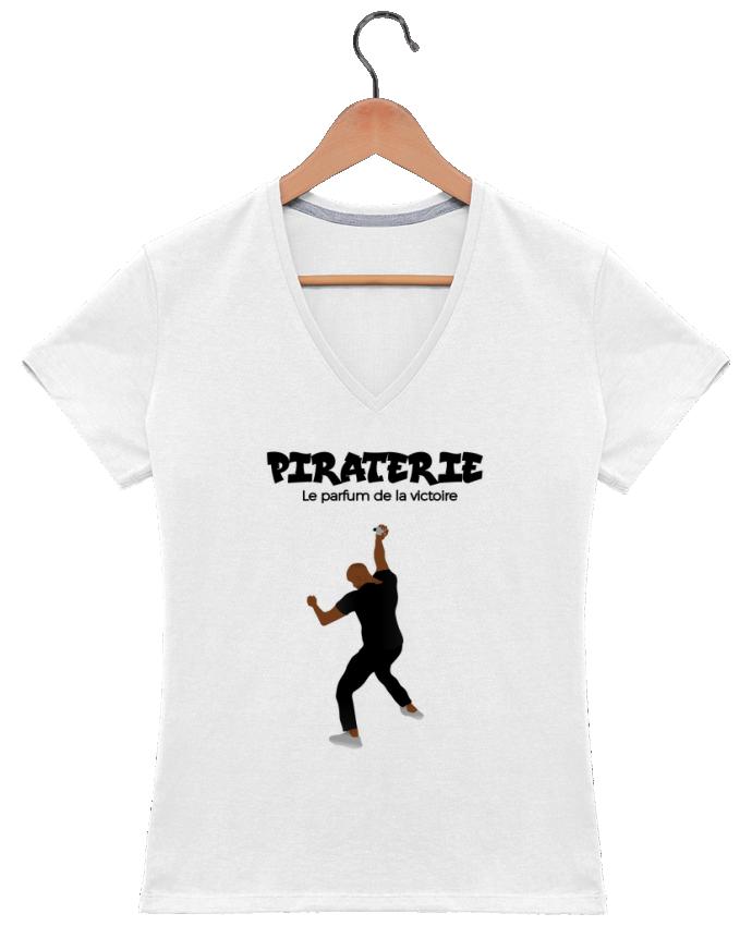 T-shirt Col V Femme 180 gr Booba vs Kaaris parfum par tunetoo