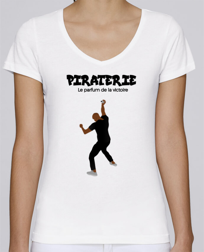 T-shirt Femme Col V Stella Chooses Booba vs Kaaris parfum par tunetoo
