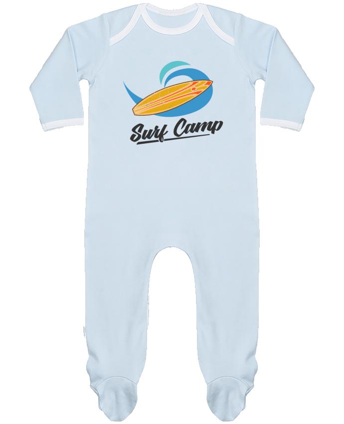 Pyjama Bébé Manches Longues Contrasté Summer Surf Camp par tunetoo