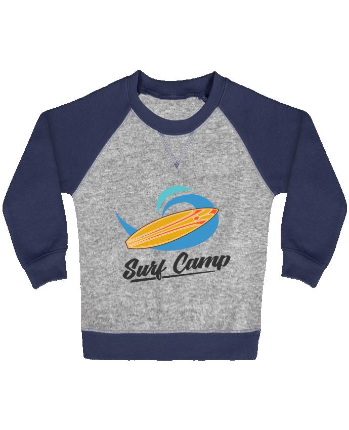 Sweat Shirt Bébé Col Rond Manches Raglan Contrastées Summer Surf Camp par tunetoo