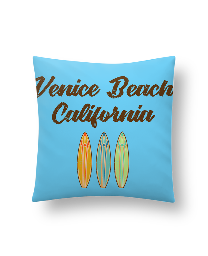 Coussin Synthétique Doux 41 x 41 cm Venice Beach Surf par tunetoo