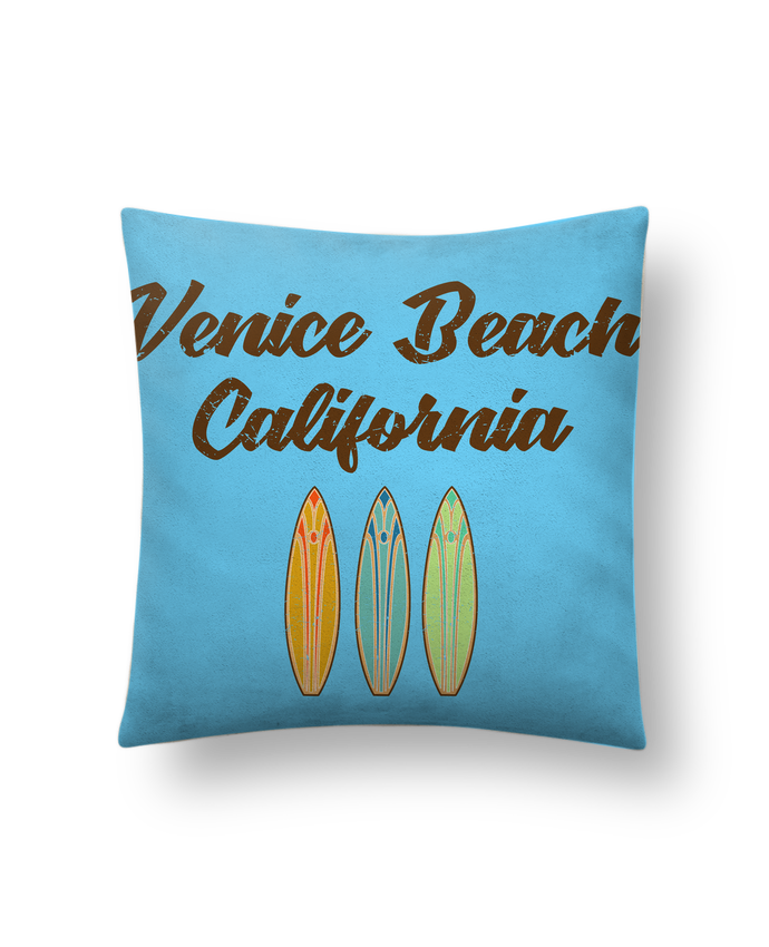 Coussin Toucher Peau de Pêche 41 x 41 cm Venice Beach Surf par tunetoo