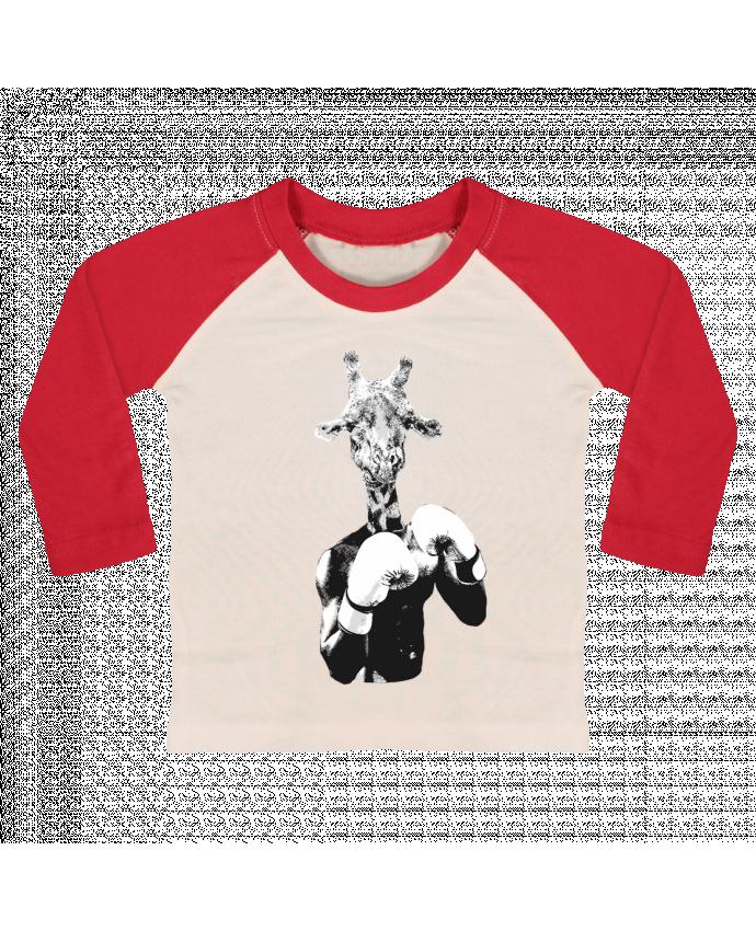 T-shirt Bébé Baseball Manches Longues Girafe boxe par justsayin