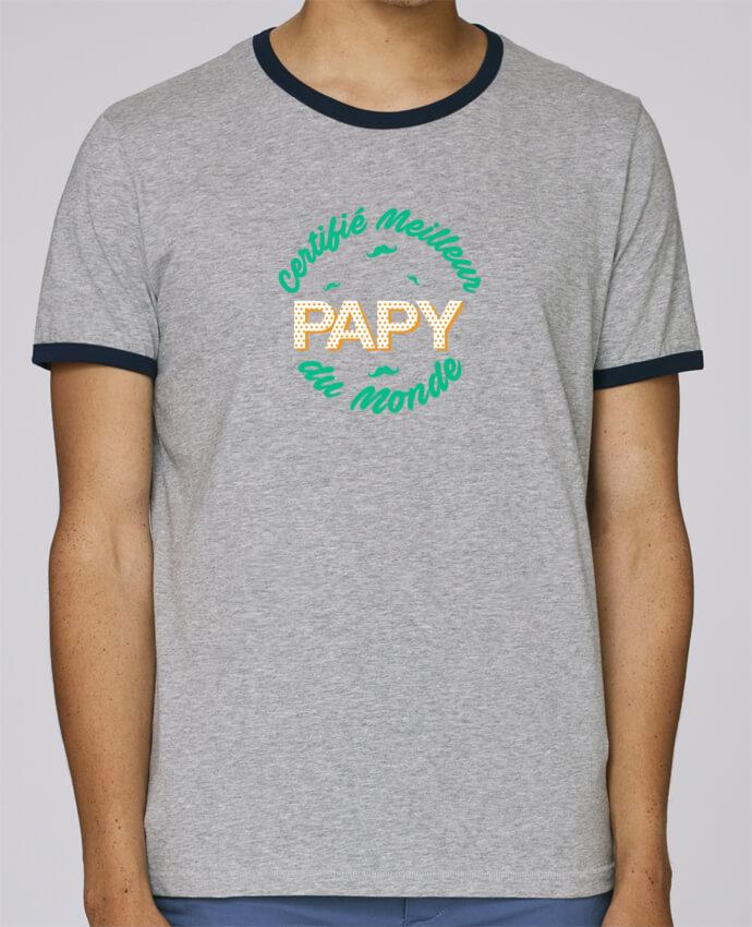 T-Shirt Ringer Contrasté Homme Stanley Holds Certifié meilleur papy du monde pour femme par tunetoo