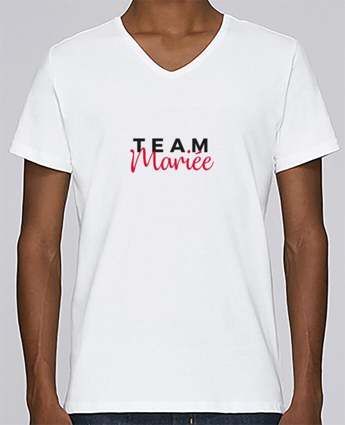 T-shirt Col V Homme Stanley Relaxes Team Mariée par Nana