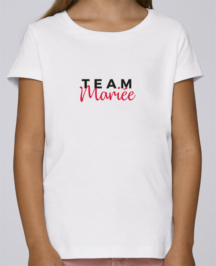 T-shirt Fille Mini Stella Draws Team Mariée par Nana