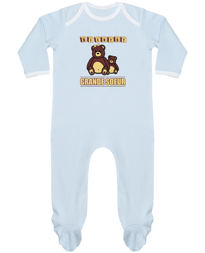 Pyjama Bébé Manches Longues Contrasté Bientôt Grande Soeur par Benichan