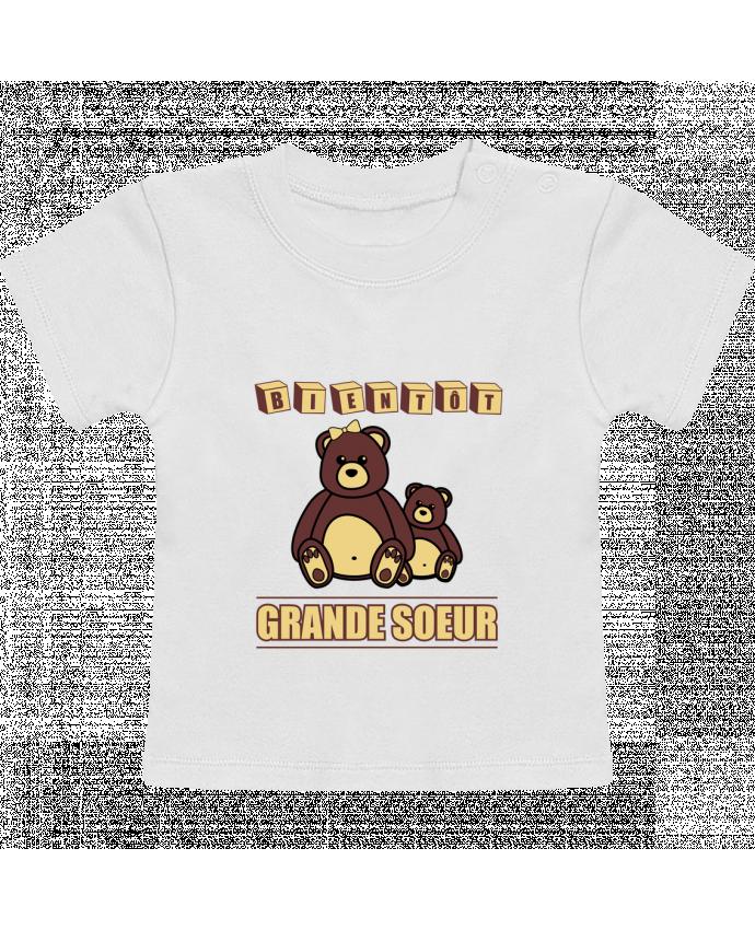 T-Shirt Bébé Manches Courtes Bientôt Grande Soeur manches courtes du designer Benichan
