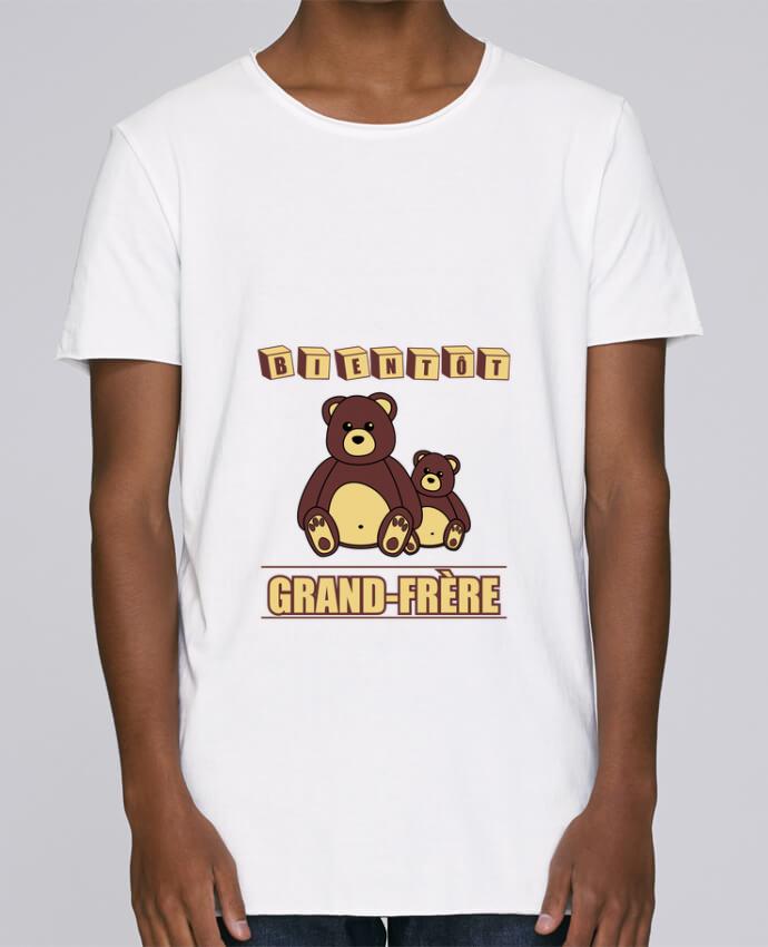 T-shirt Homme Oversized Stanley Skates Bientôt Grand-Frère avec ours en peluche mignon par Benichan