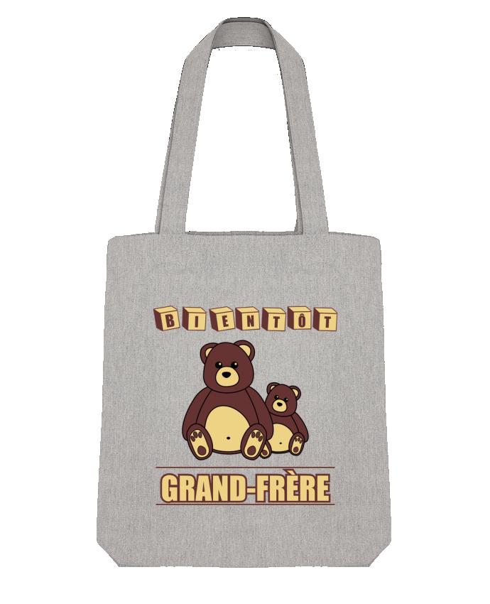 Tote Bag Stanley Stella Bientôt Grand-Frère avec ours en peluche mignon par Benichan