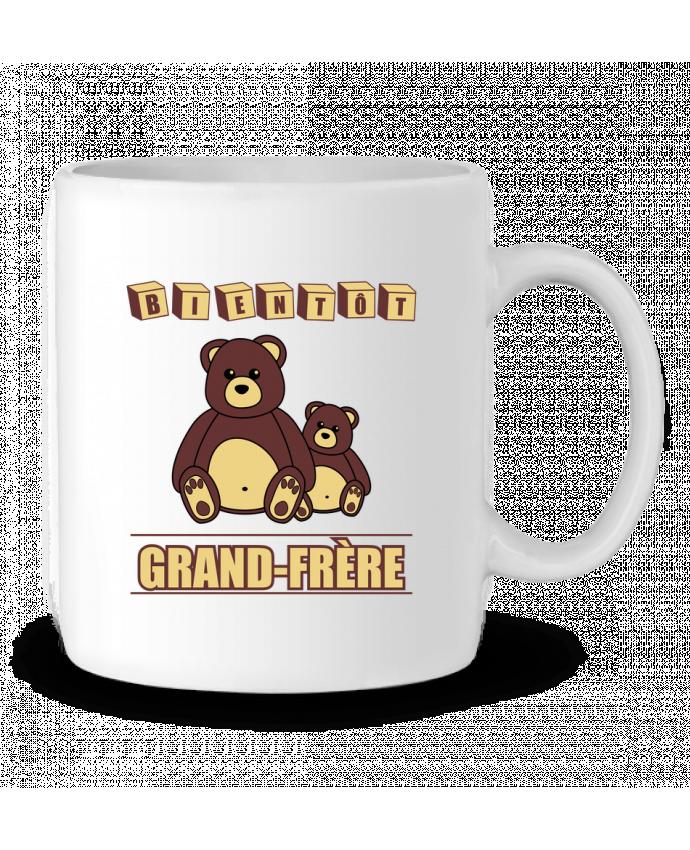Mug en Céramique Bientôt Grand-Frère avec ours en peluche mignon par Benichan
