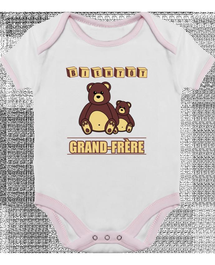 Body Bébé Contrasté Bientôt Grand-Frère avec ours en peluche mignon par Benichan