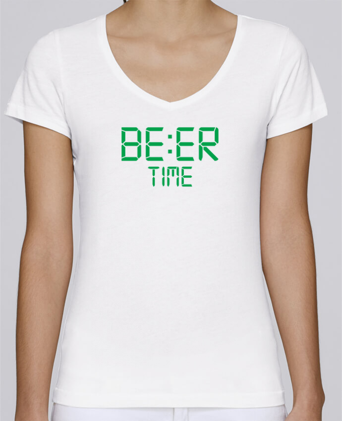 T-shirt Femme Col V Stella Chooses Beer time par tunetoo