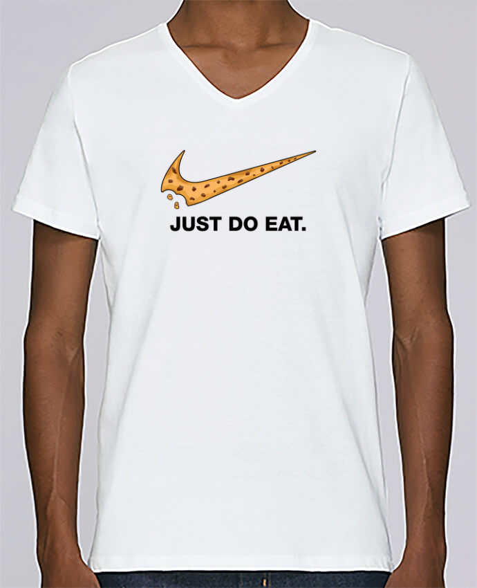 T-shirt Col V Homme Stanley Relaxes Just do eat par tunetoo