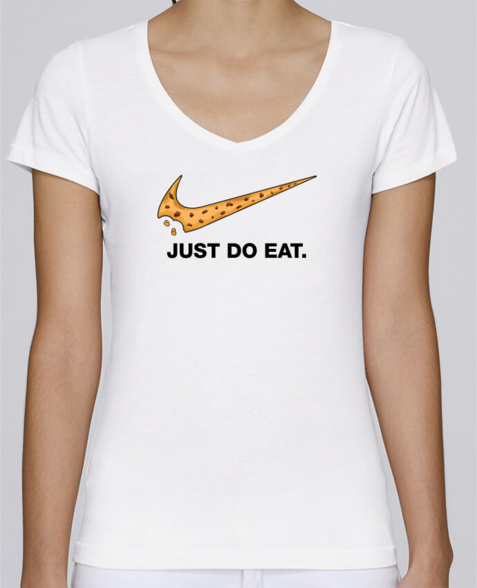 T-shirt Femme Col V Stella Chooses Just do eat par tunetoo