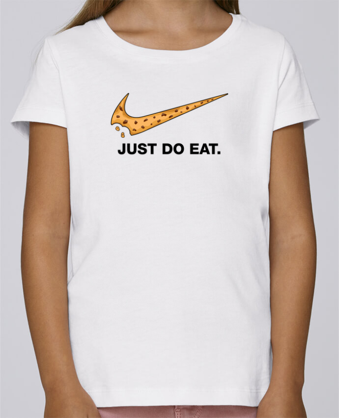 T-shirt Fille Mini Stella Draws Just do eat par tunetoo