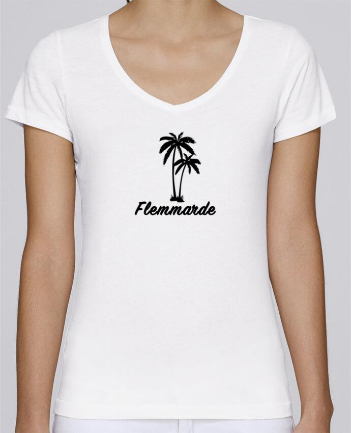 T-shirt Femme Col V Stella Chooses Madame Flemmarde par Cassiopia®