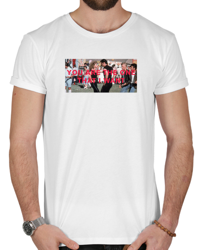 T-shirt  Homme 180g Grease - You are the one par tunetoo