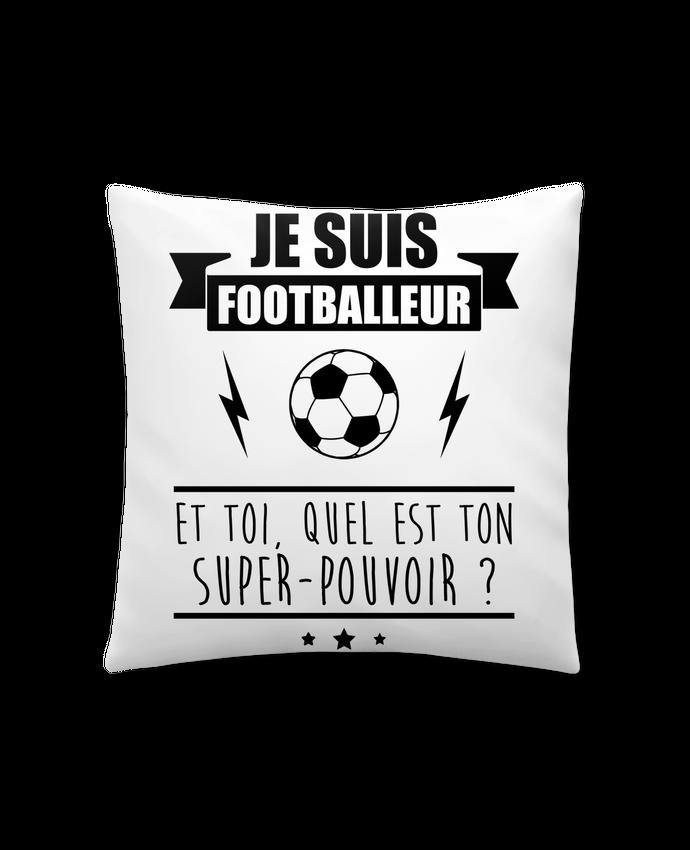 Coussin Synthétique Doux 41 x 41 cm Je suis footballeur et toi, quel est ton super-pouvoir ? par Benichan