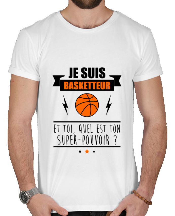 T-shirt  Homme 180g Je suis basketteur et toi, quel est ton super-pouvoir ? par Benichan