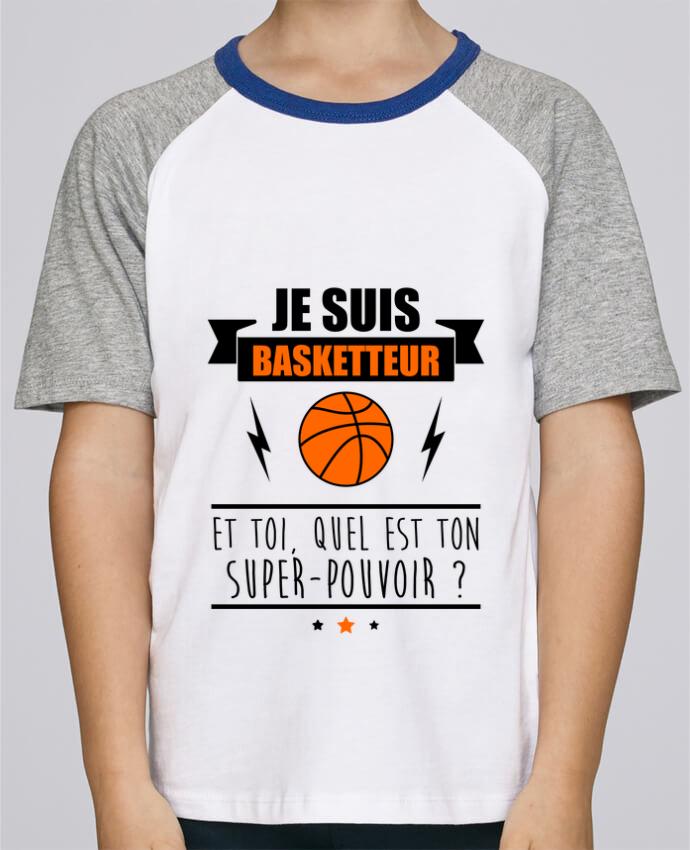 Tee-Shirt Enfant Stanley Mini Jump Short Sleeve Je suis basketteur et toi, quel est ton super-pouvoir ? par Benichan