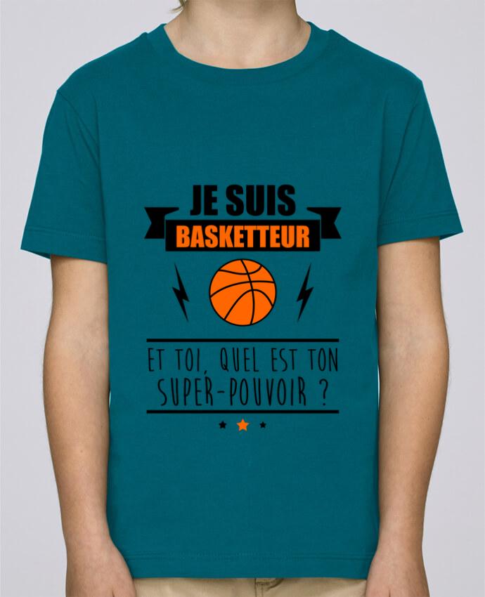 Tee Shirt Garçon Stanley Mini Paint Je suis basketteur et toi, quel est ton super-pouvoir ? par Benichan