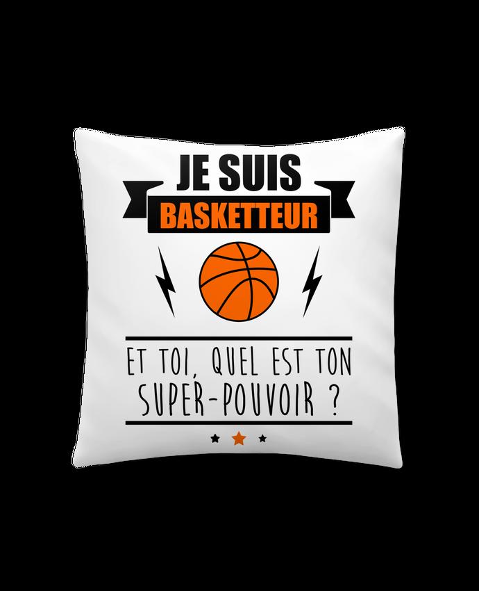 Coussin Synthétique Doux 41 x 41 cm Je suis basketteur et toi, quel est ton super-pouvoir ? par Benichan