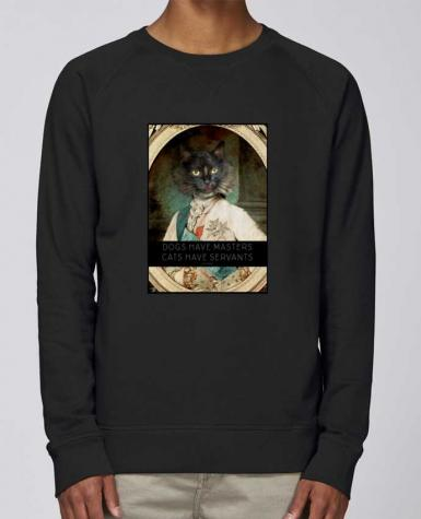 Sweat Col Rond Homme Stanley Strolls King Cat par Tchernobayle