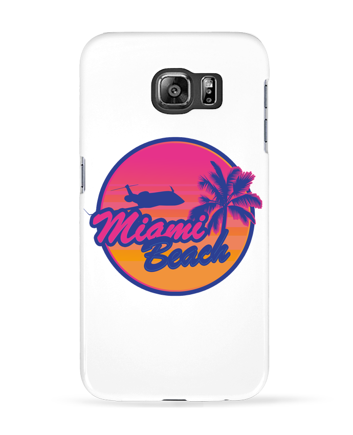 Coque 3D Samsung Galaxy S6 miami beach - Revealyou