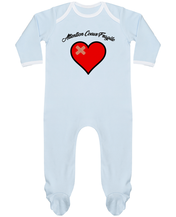 Pyjama Bébé Manches Longues Contrasté Coeur Fragile par funky-dude
