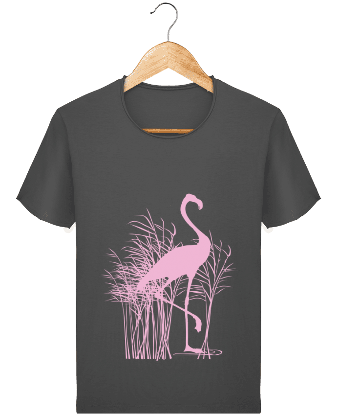 T-shirt Homme Stanley Imagines Vintage Flamant rose dans roseaux par Studiolupi