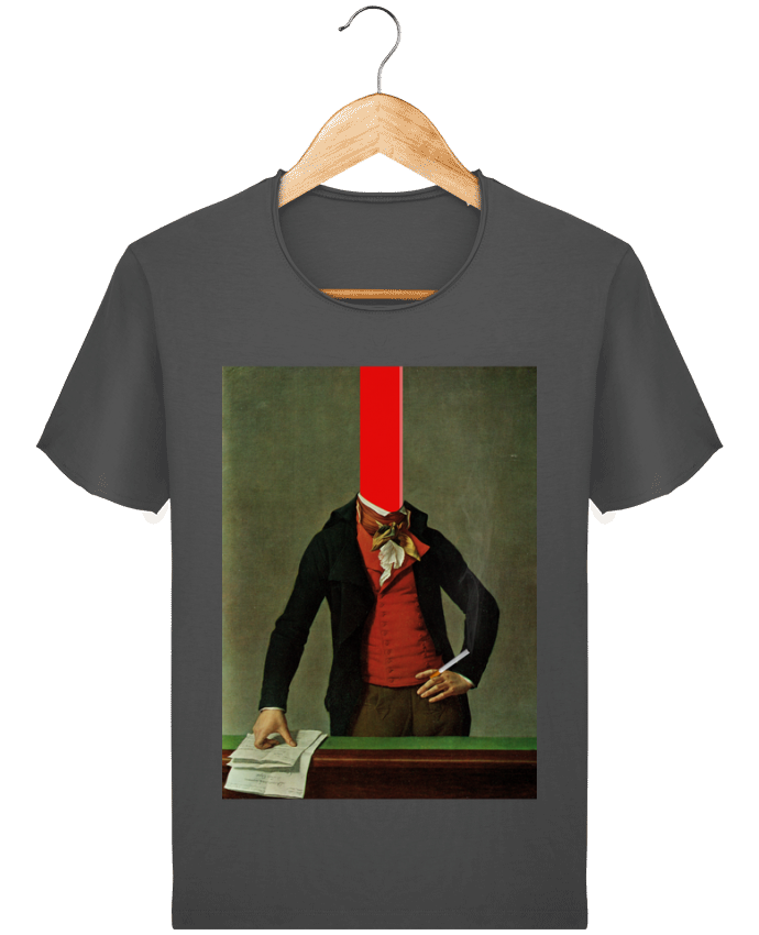 T-shirt Homme Stanley Imagines Vintage The red stripe in the head and the cigarette in the hand par Marko Köppe