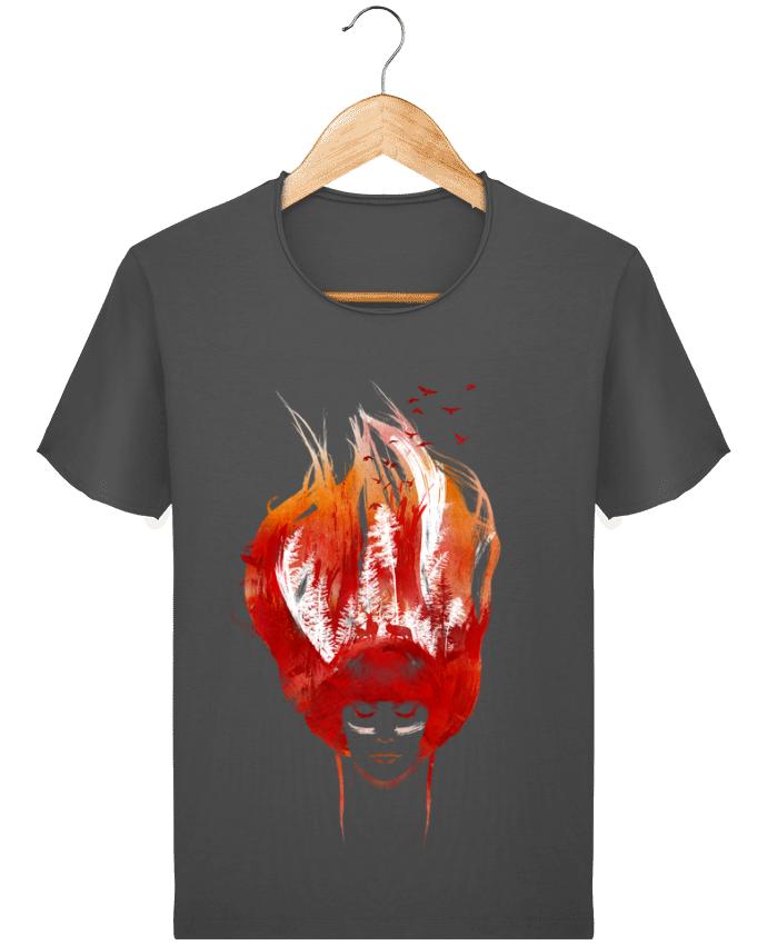 T-shirt Homme Stanley Imagines Vintage Burning forest par robertfarkas