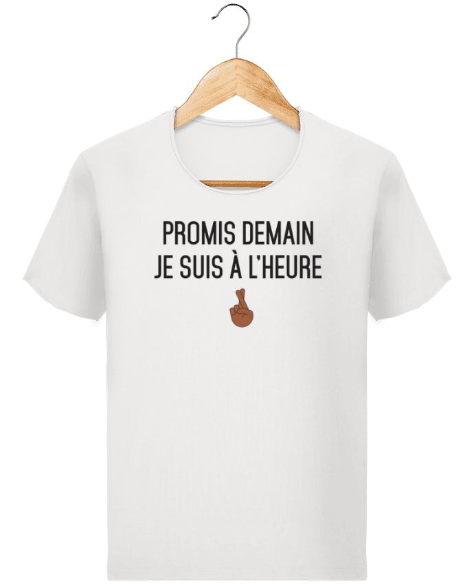 T-shirt Homme Stanley Imagines Vintage Promis demain je suis à l'heure - black version par tunetoo