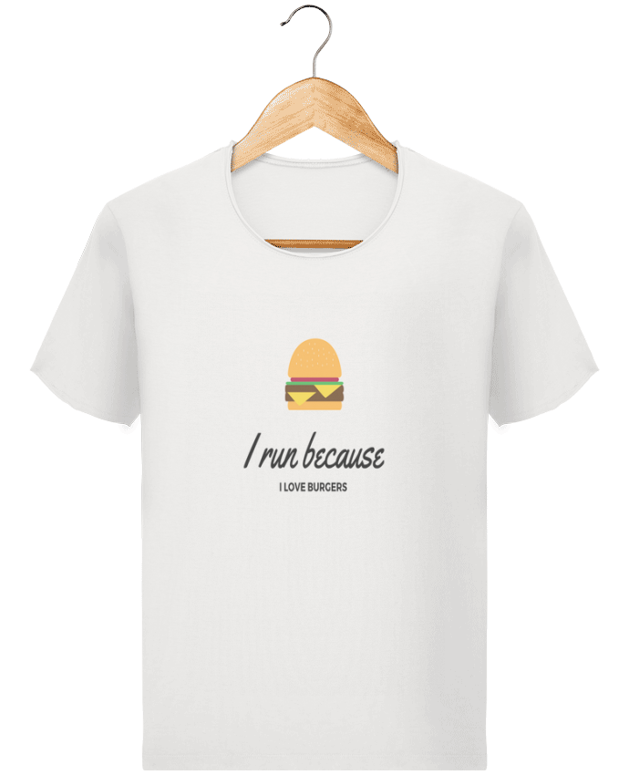 T-shirt Homme Stanley Imagines Vintage I run because I love burgers par Dream & Inspire
