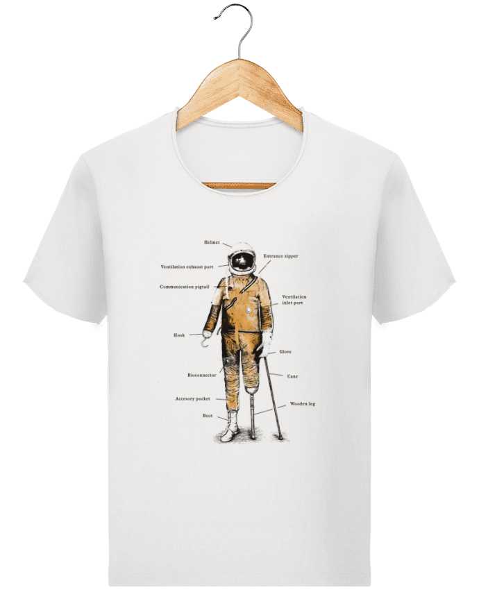 T-shirt Homme Stanley Imagines Vintage Astropirate with text par Florent Bodart