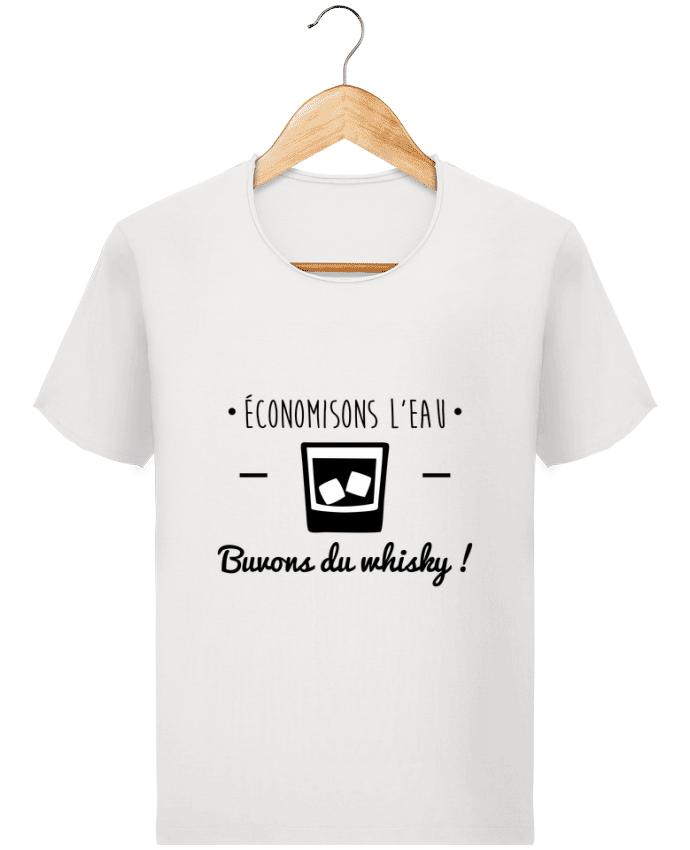 T-shirt Homme Stanley Imagines Vintage Economisons l'eau, buvons du whisky, humour,dicton par Benichan