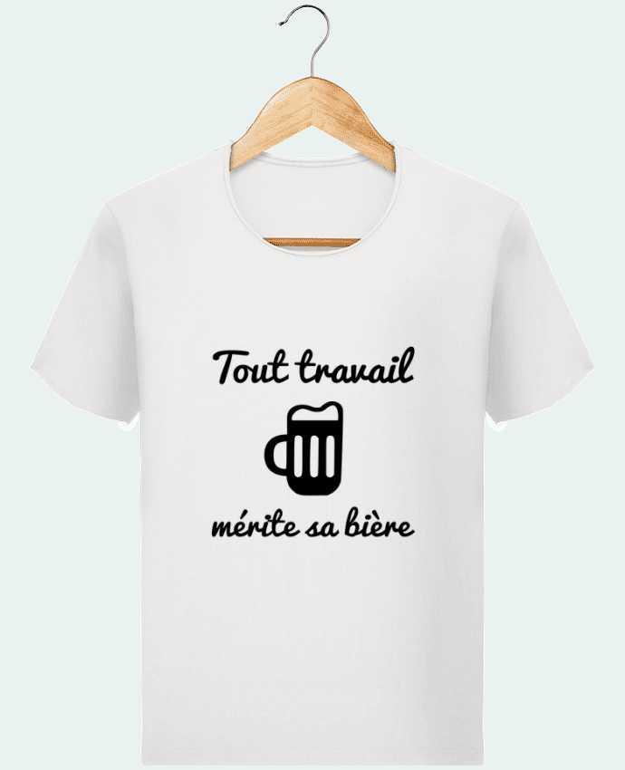 T-shirt Homme Stanley Imagines Vintage Tout travail mérite sa bière, humour, citations par Benichan