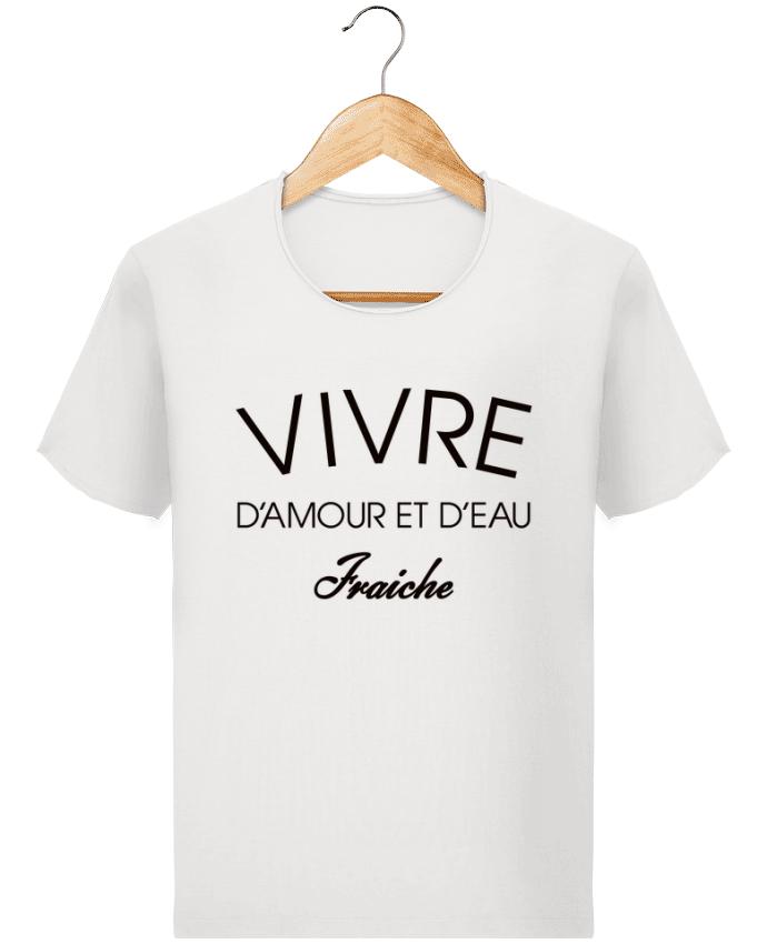 T-shirt Homme vintage Vivre d'amour et d'eau fraîche par Freeyourshirt.com