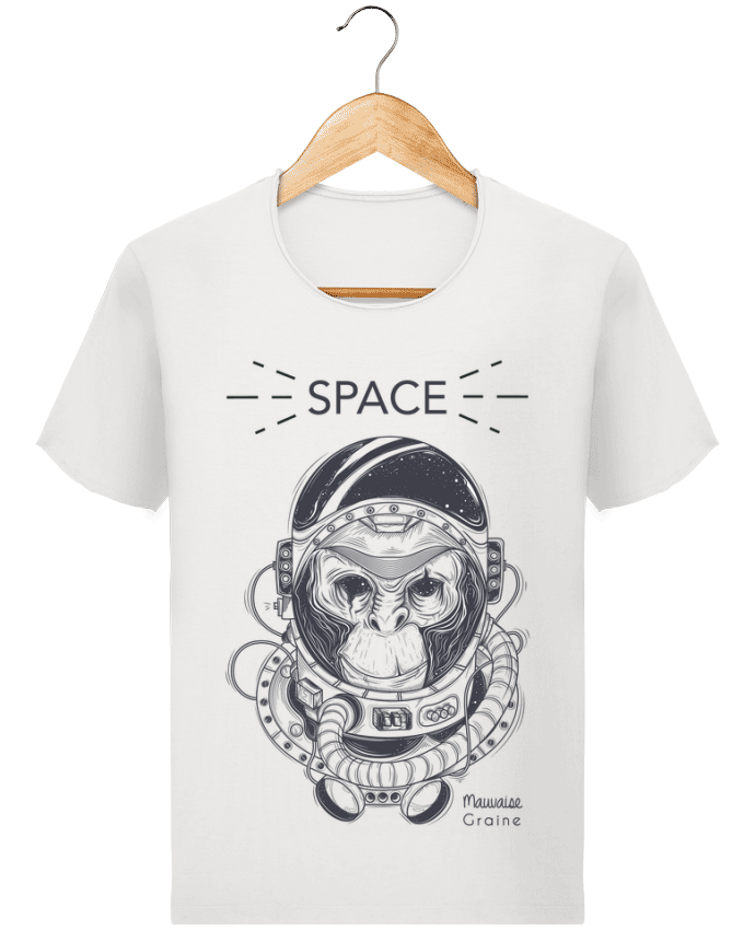 T-shirt Homme Stanley Imagines Vintage Monkey space par Mauvaise Graine