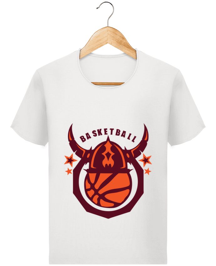 T-shirt Homme Stanley Imagines Vintage basketball casque viking logo sport club par Achille