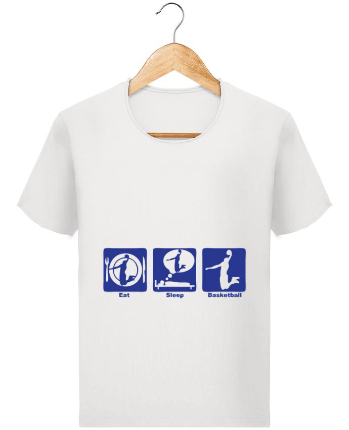 T-shirt Homme Stanley Imagines Vintage basketball basket eat sleep play dunk par Achille