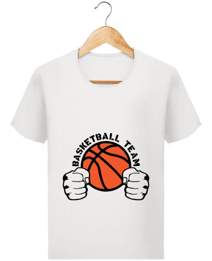 T-shirt Homme Stanley Imagines Vintage basketball team poing ferme logo equipe par Achille